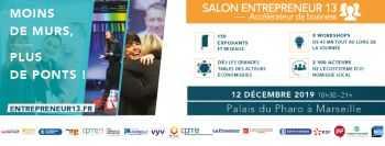 Le Cabinet Abeille&Associés participe au Salon Entrepreneur13 le 12 décembre 2019 au Palais du Pharo à Marseille