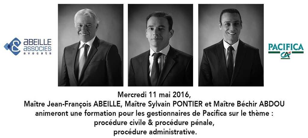 Formation pour Pacifica par Me ABEILLE, Me PONTIER et Me ABDOU